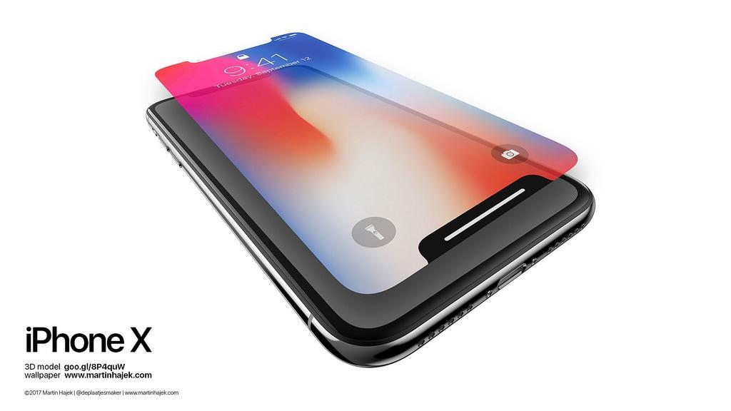 iPhone X com o recorte disfarçado