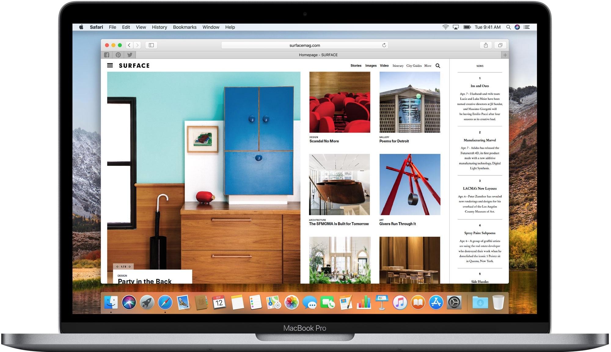 Safari no macOS High Sierra 10.13