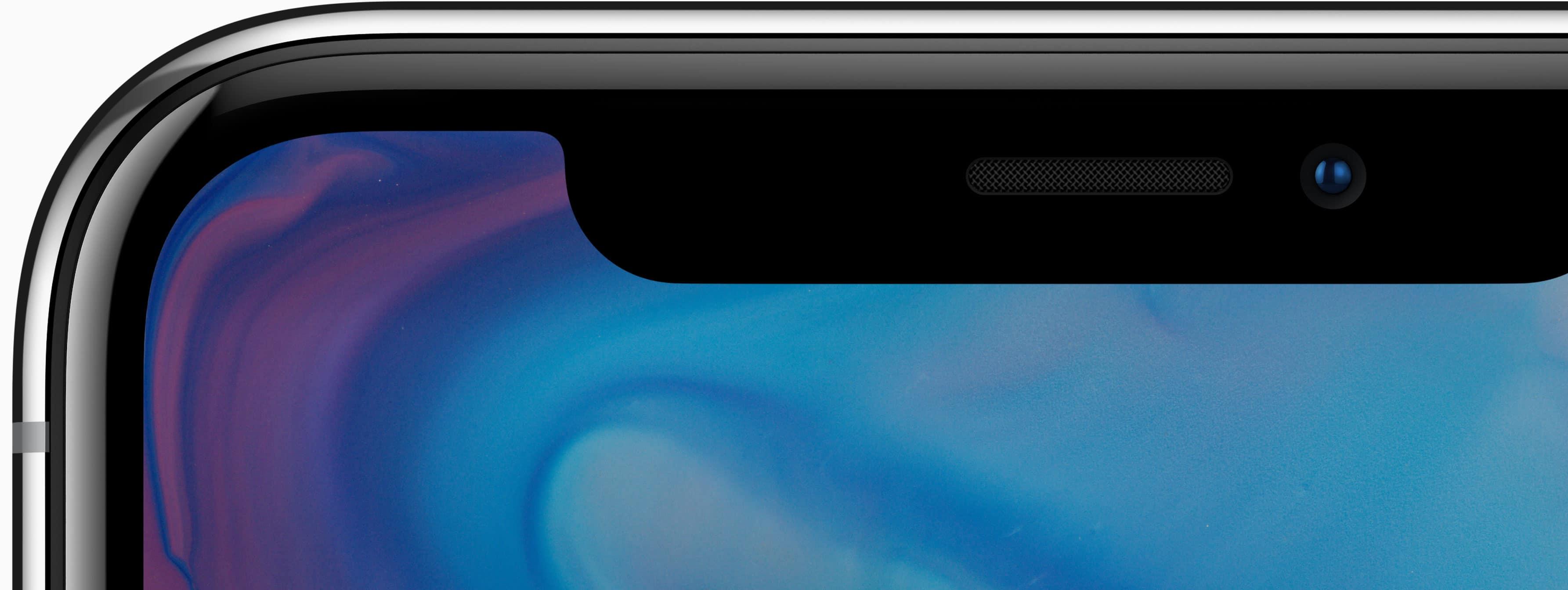 Câmera frontal do iPhone X