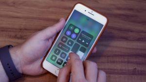 Central de Controle do iOS 11