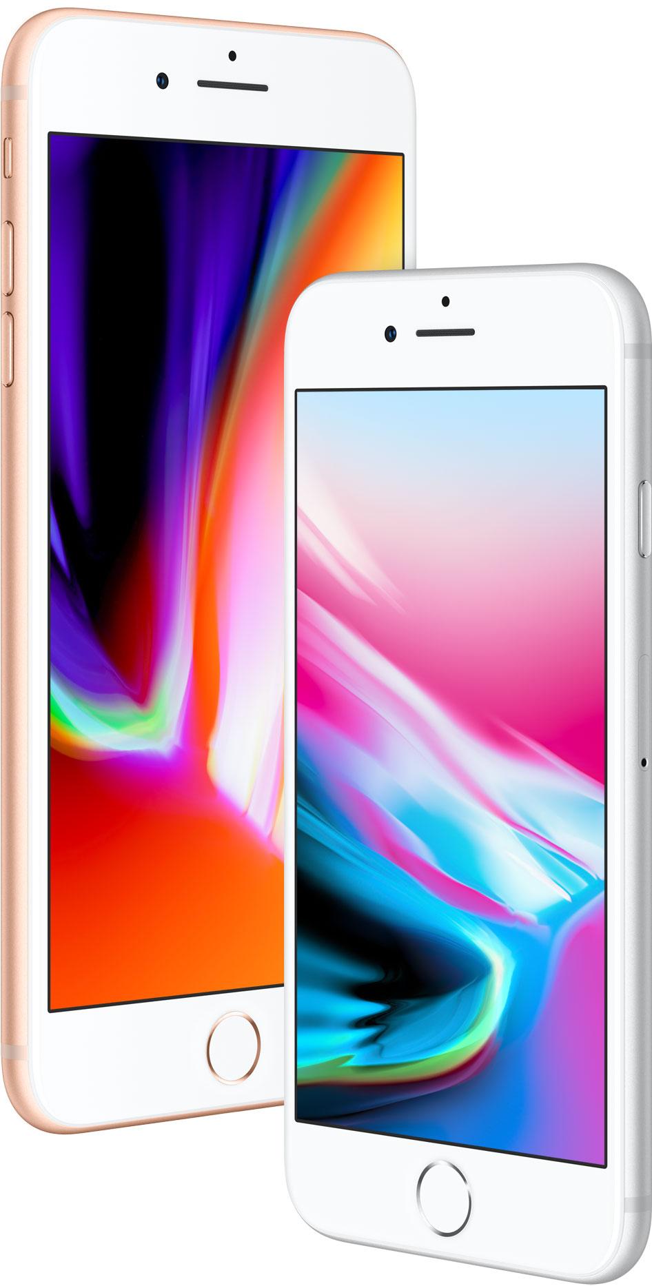 iPhones 8 meio de lado