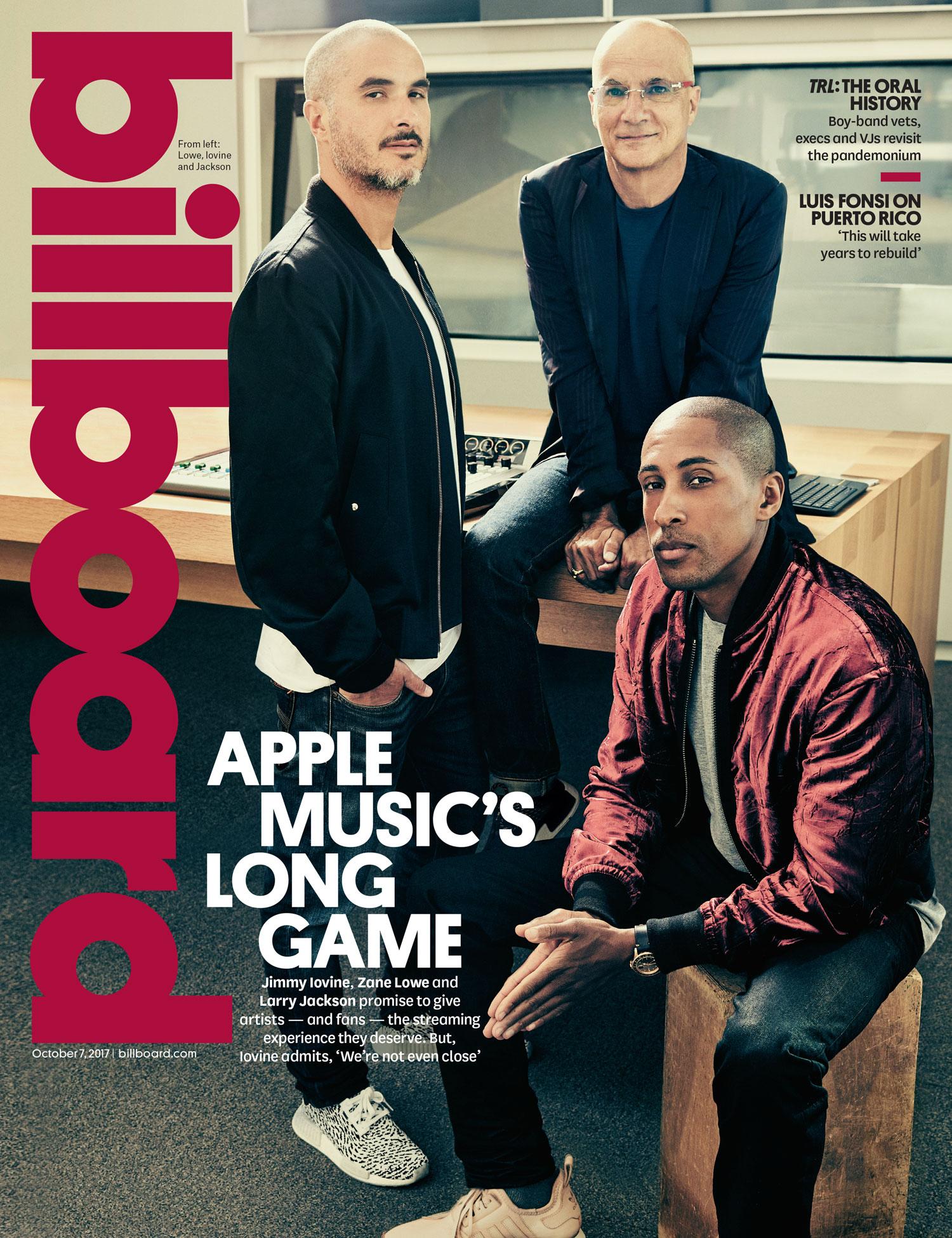 Capa da Billboard com os chefes do Apple Music