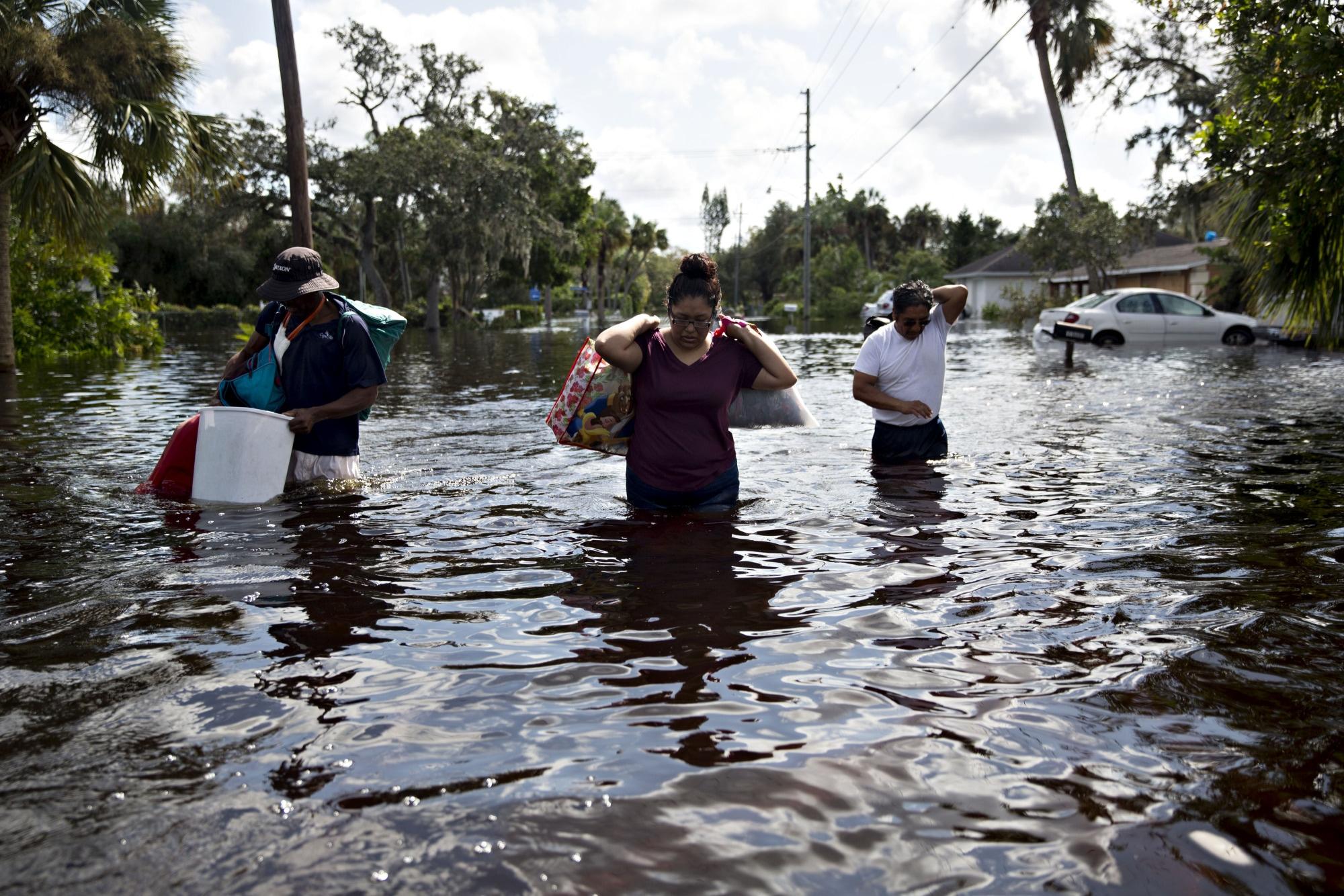 Passagem do furacão Irma em Bonita Springs, na Flórida | Imagem: Daniel Acker / Bloomberg