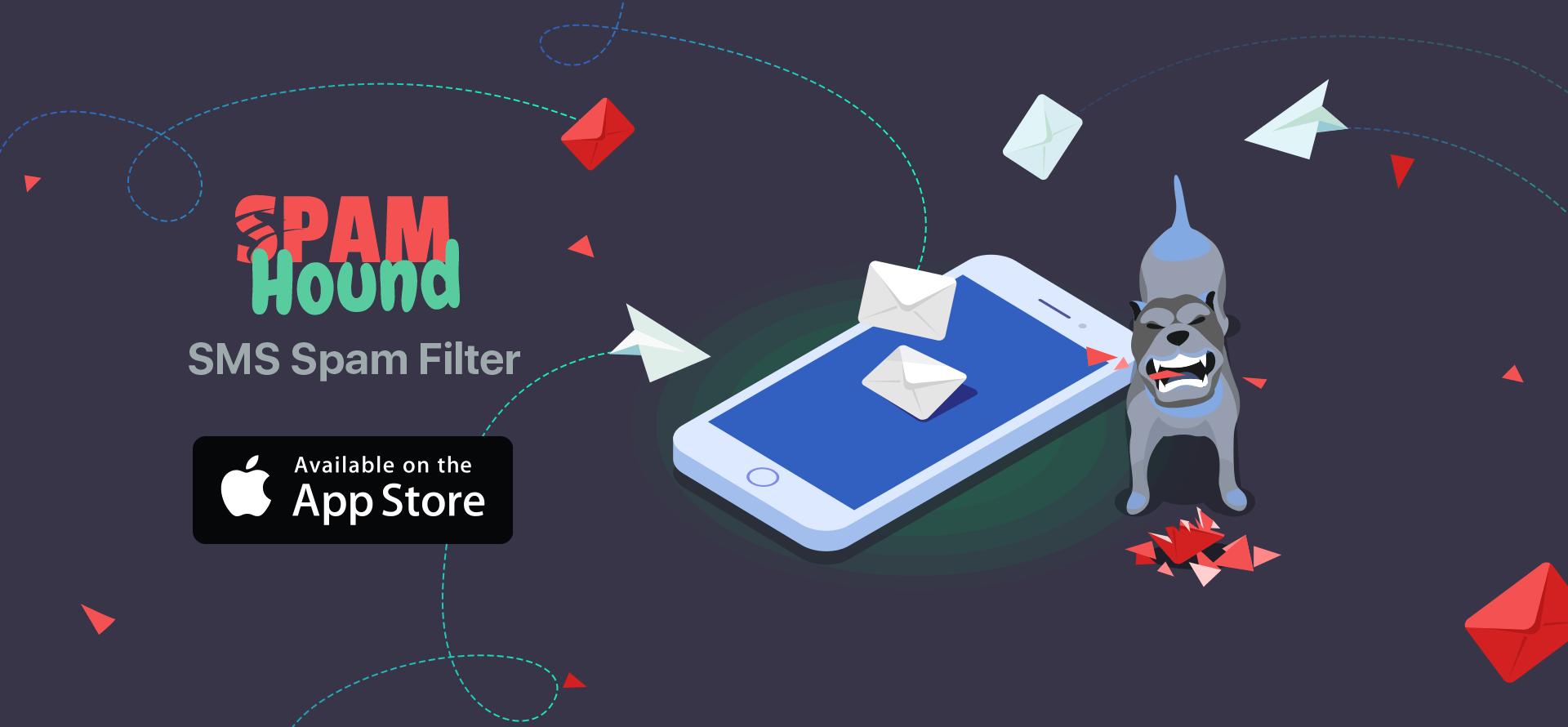Banner do app SpamHound para iOS