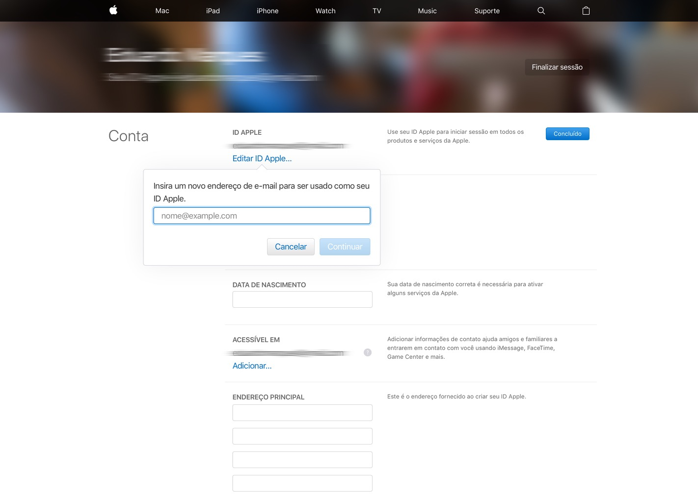 Mudando um email atrelado ao ID Apple