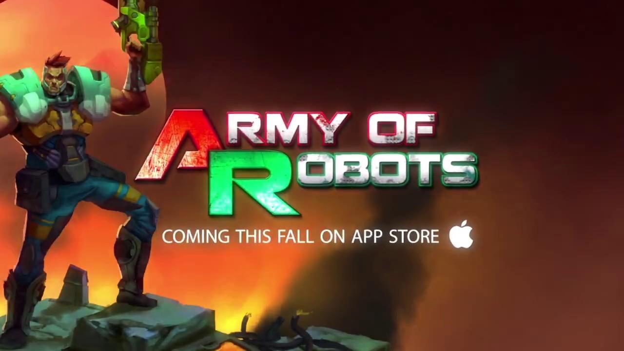 Jogo Army of Robots para iOS