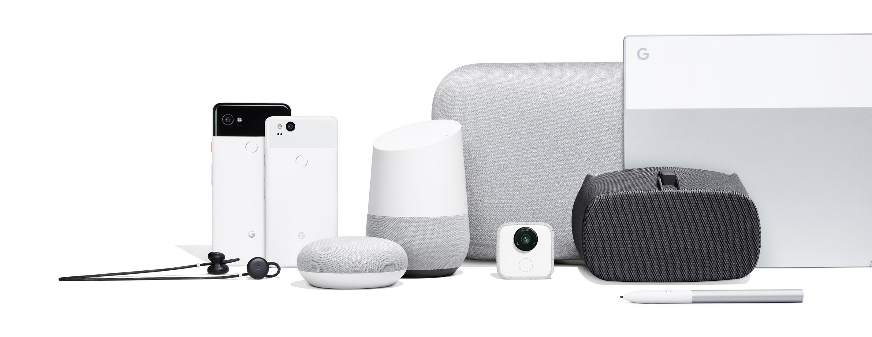 Nova família de dispositivos Google