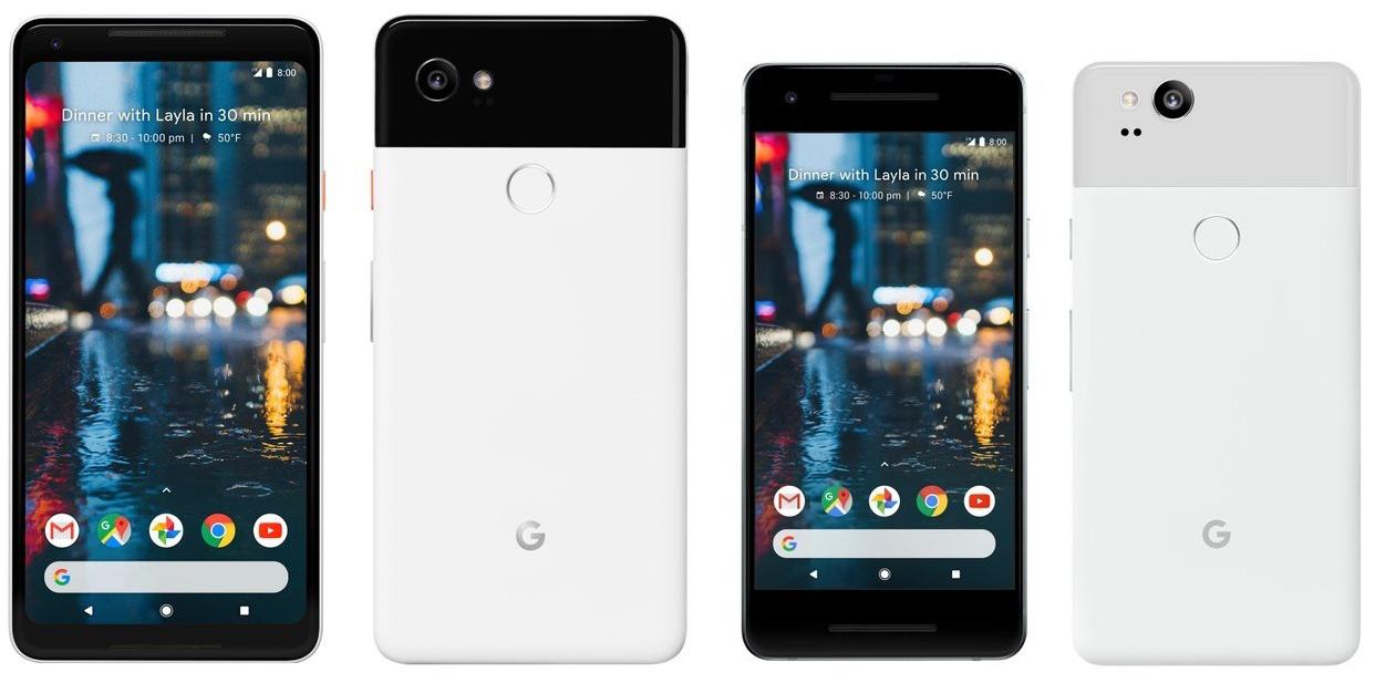 Smartphones Google Pixel 2 e Pixel 2 XL