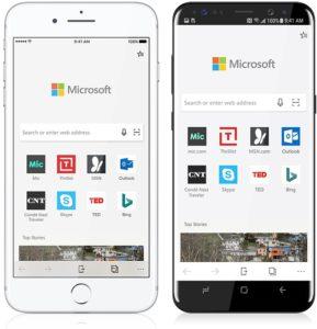 Microsoft Edge para iOS e Android