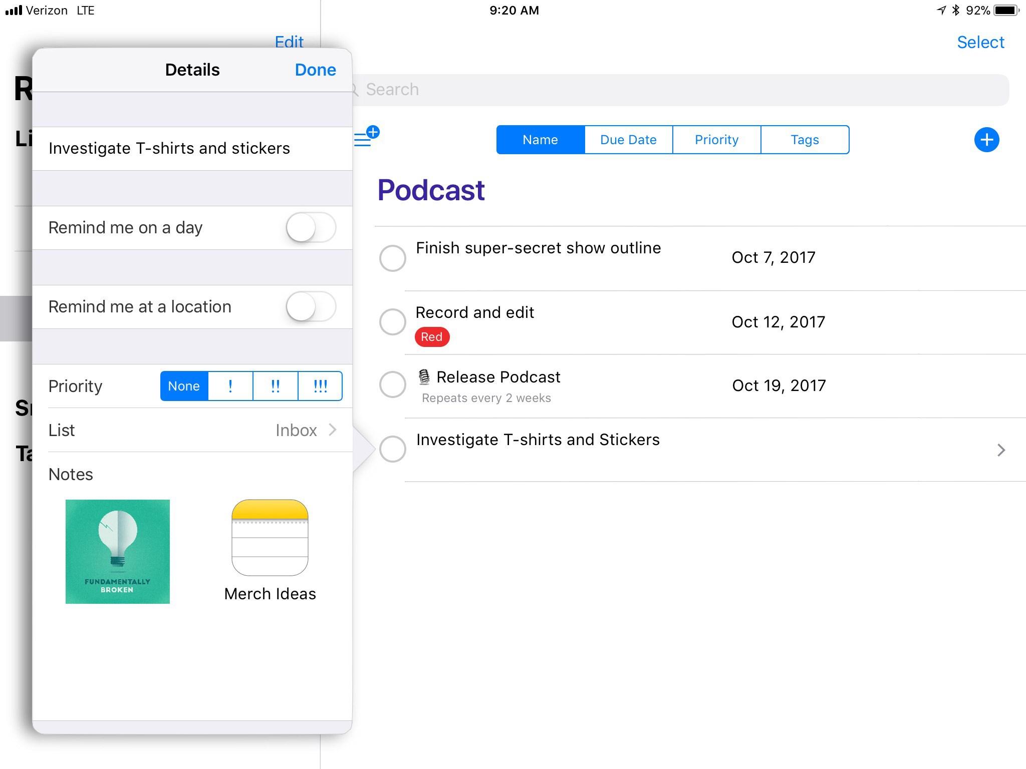 Proposta de redesign do aplicativo Lembretes do iOS