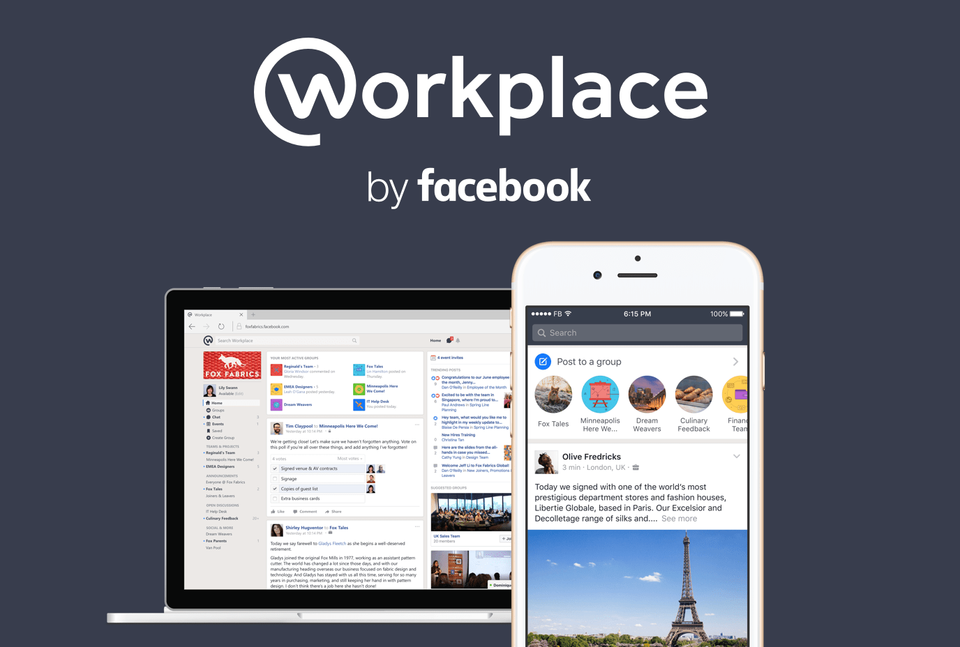 Apps Workplace, by Facebook