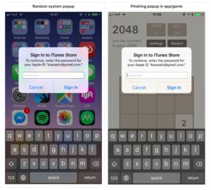 Prova de conceito de ataque phishing no iOS