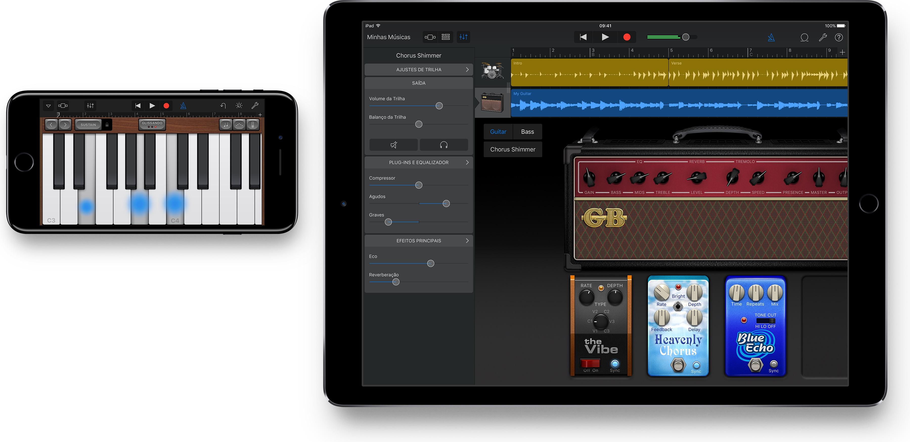 App GarageBand para iOS