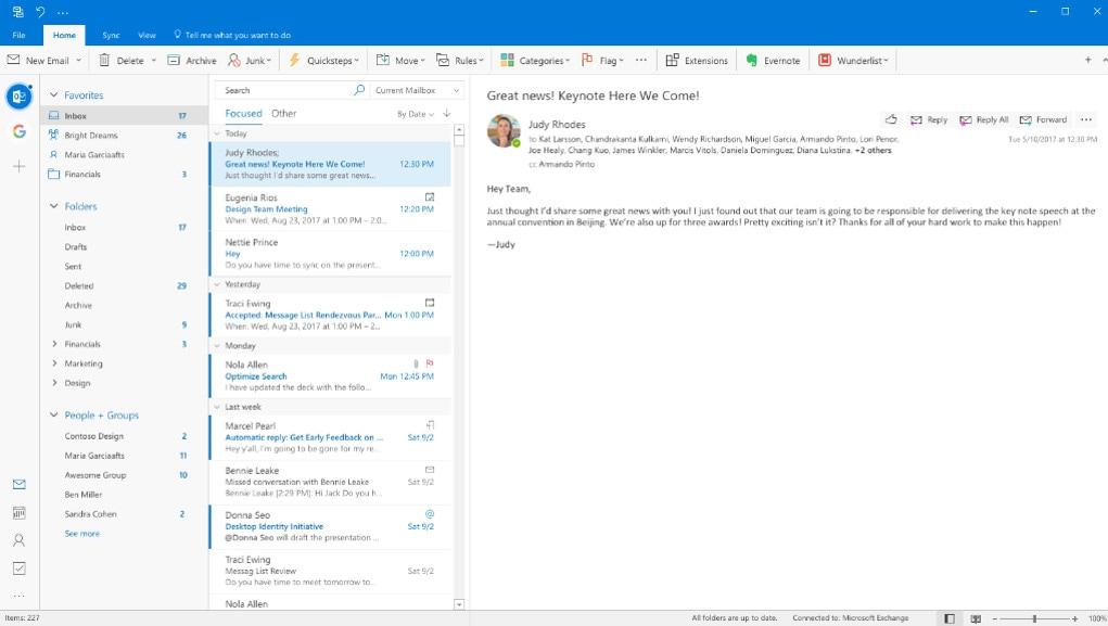 Redesign do Outlook para PC
