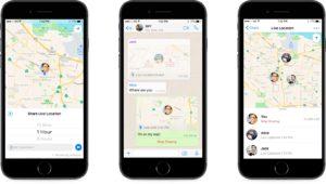 Compartilhamento de localização no WhatsApp
