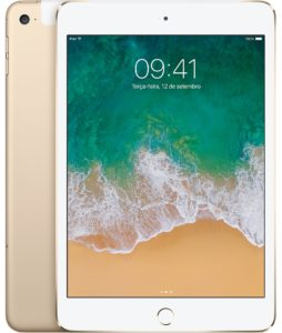 iPad mini 4 dourado Wi-Fi + Cellular