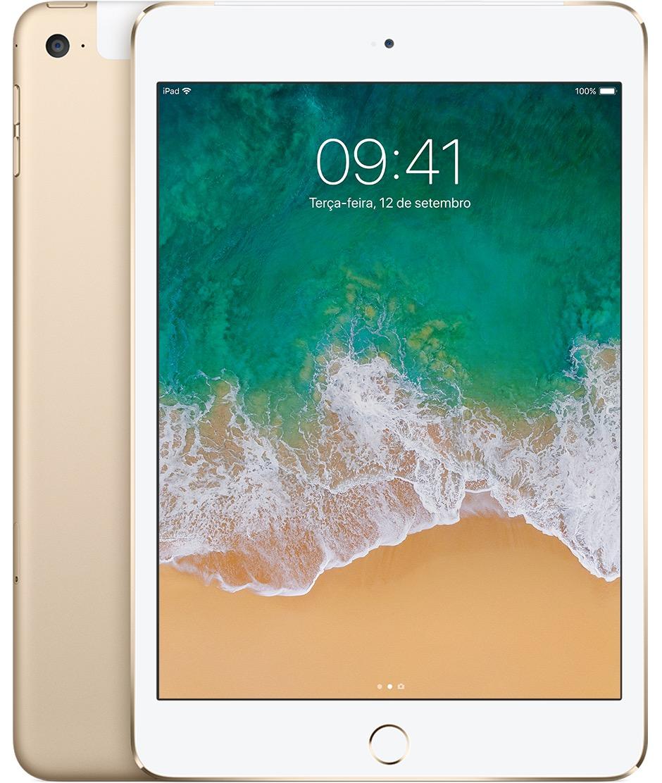 iPad mini 4 dourado Wi-Fi + Cellular