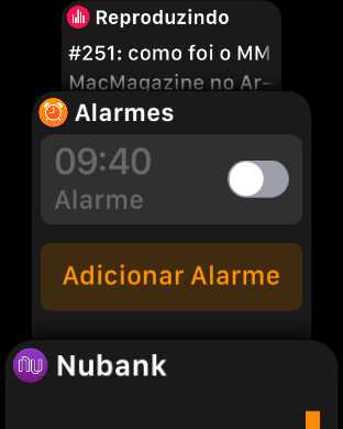Dock do watchOS 4