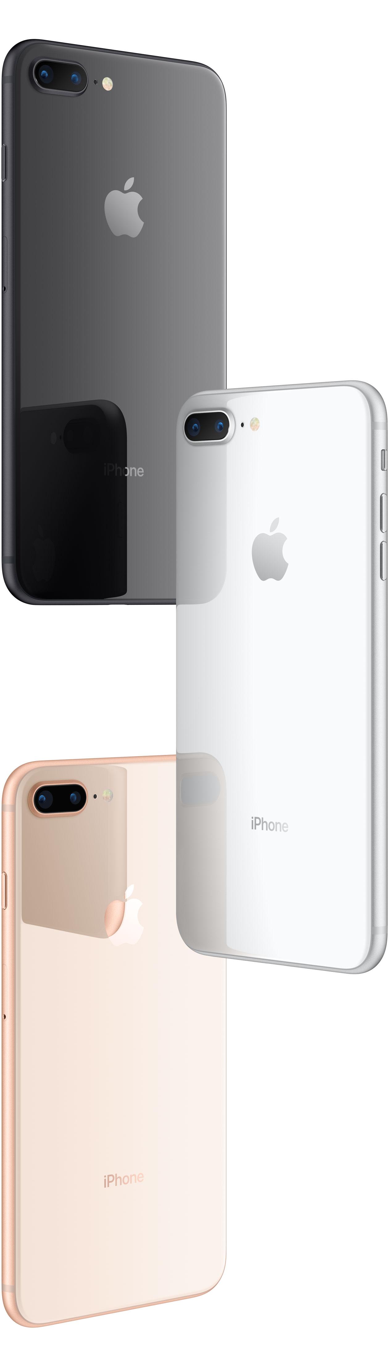 iPhones 8 Plus em pé