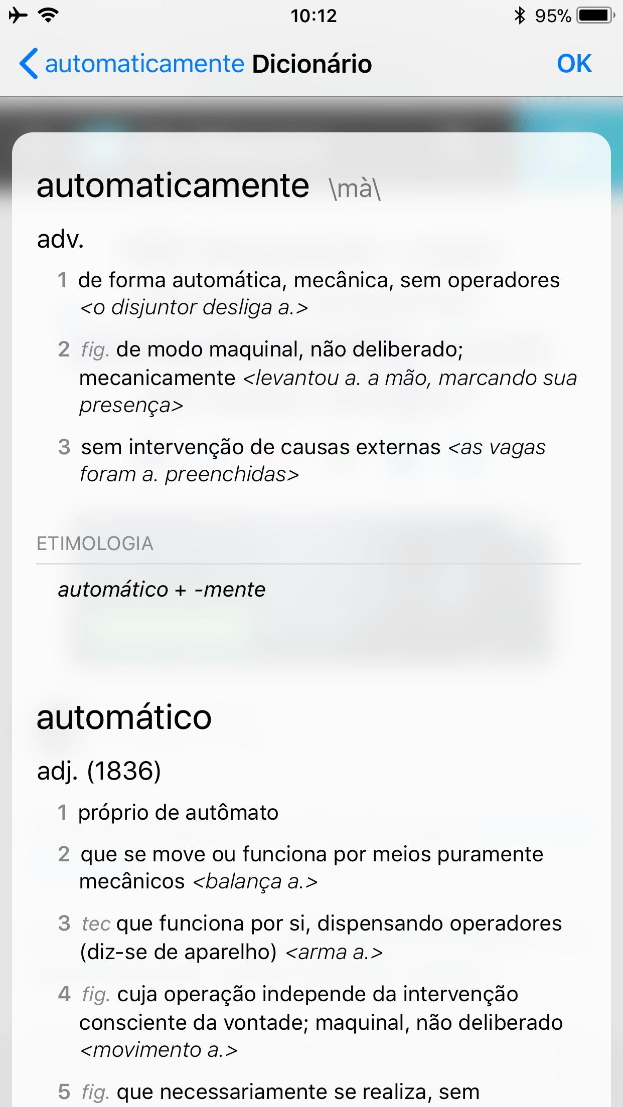 Dicionário - Definição completa