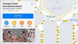 Mapas interior aeroporto