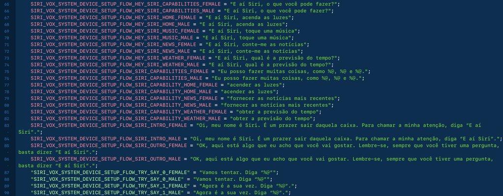 Frases do HomePod em português