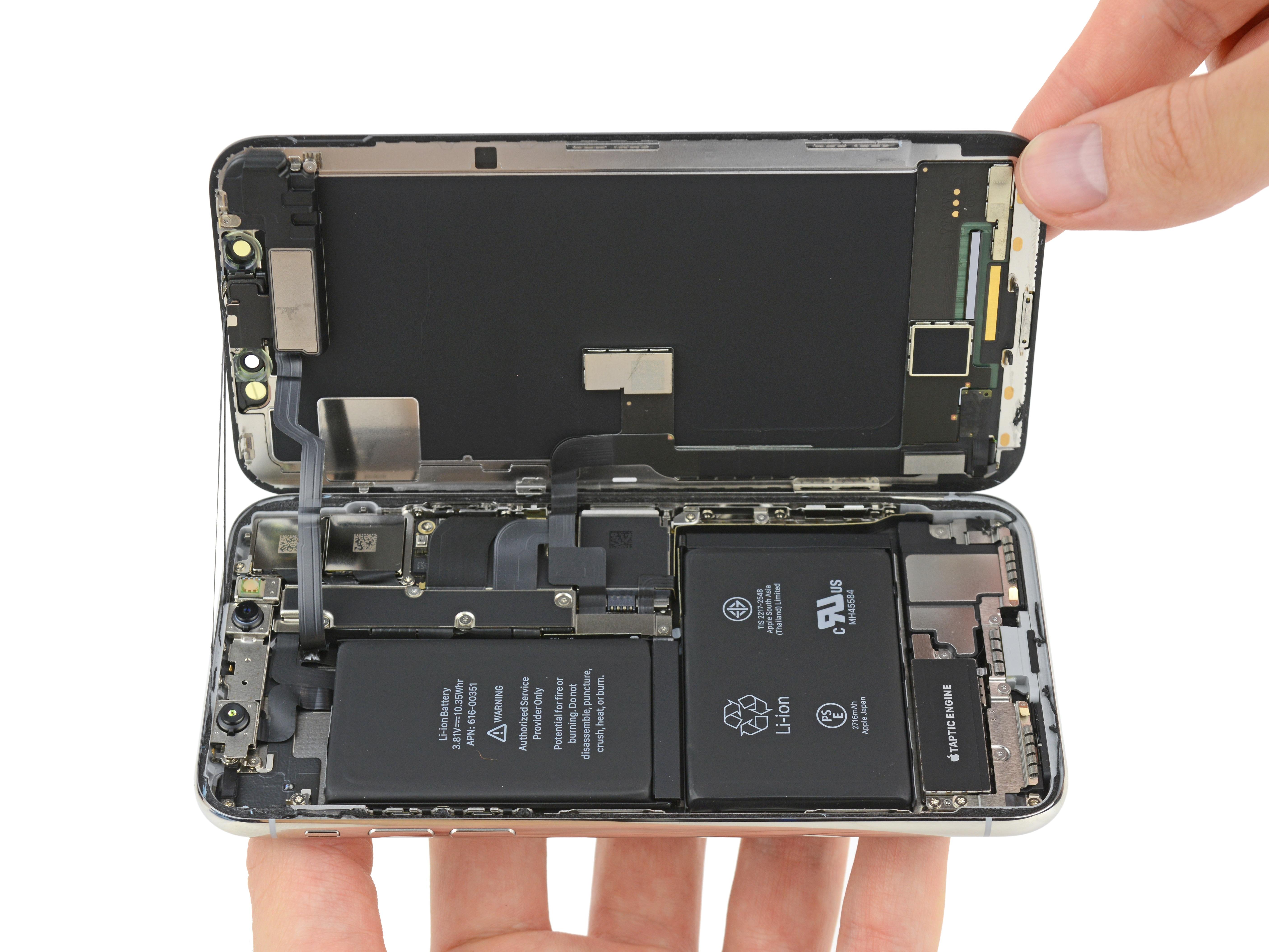 iPhone X desmontado pela iFixit