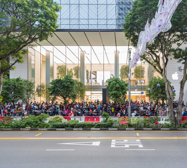 Lançamento do iPhone X - Apple Orchard Road, em Singapura