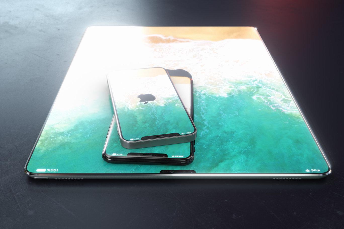Render de iPad Pro sem bordas