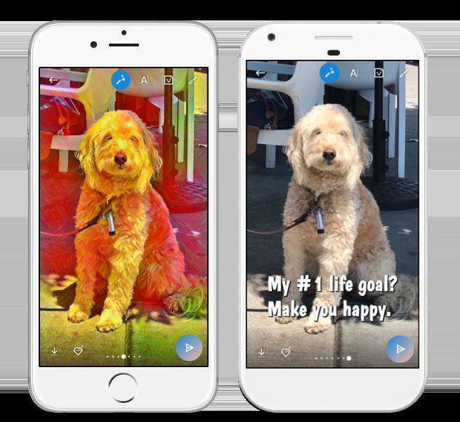Skype efeitos fotos