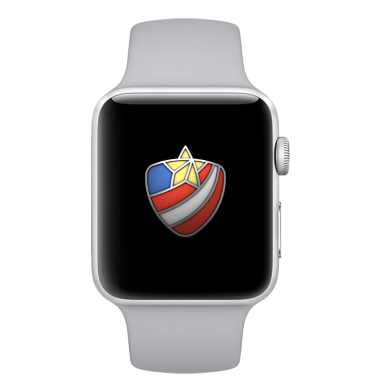 Distintivo especial do Apple Watch para o desafio do Dia dos Veteranos