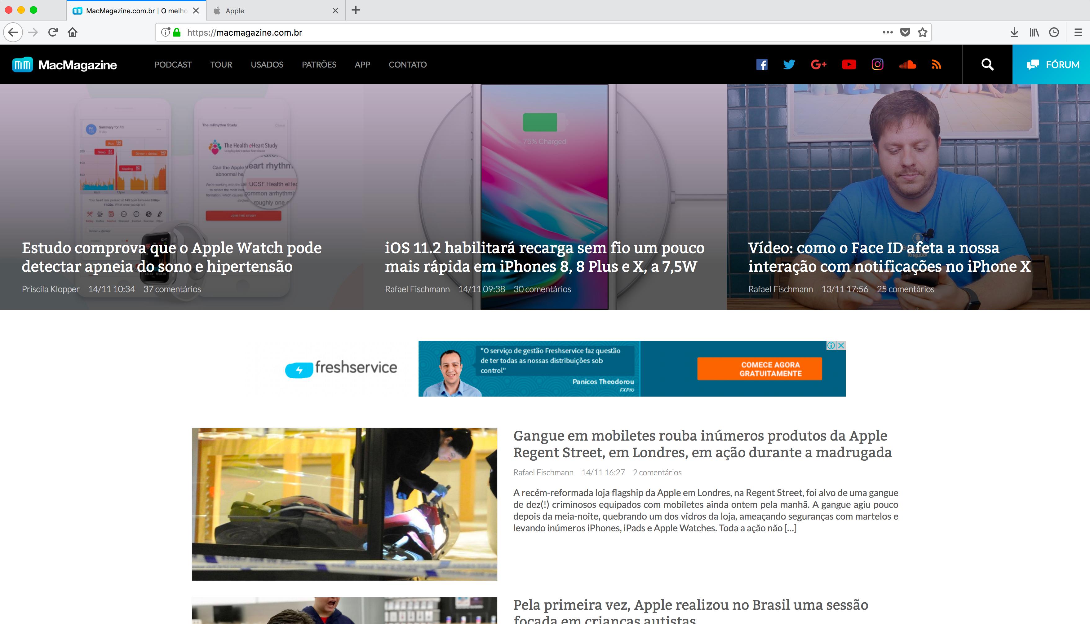 Firefox 57 Quantum no MacMagazine