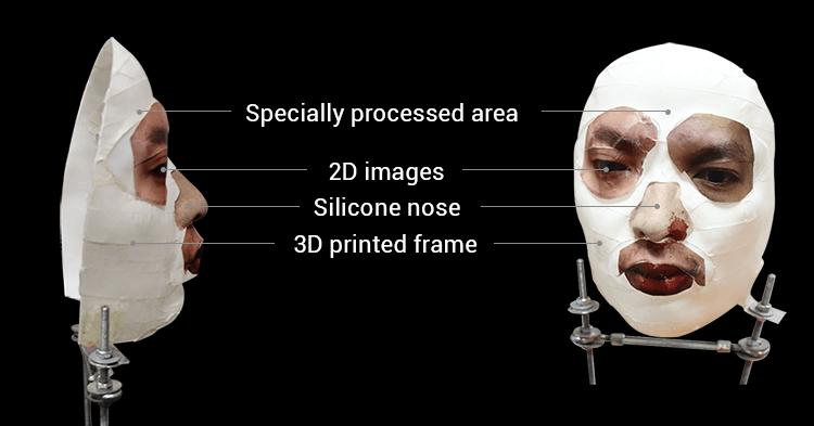 Máscara para tentar burlar o Face ID, criada pela Bkav Corporation