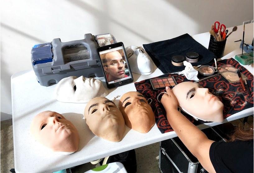 Máscara para tentar burlar o Face ID, criada pela WIRED