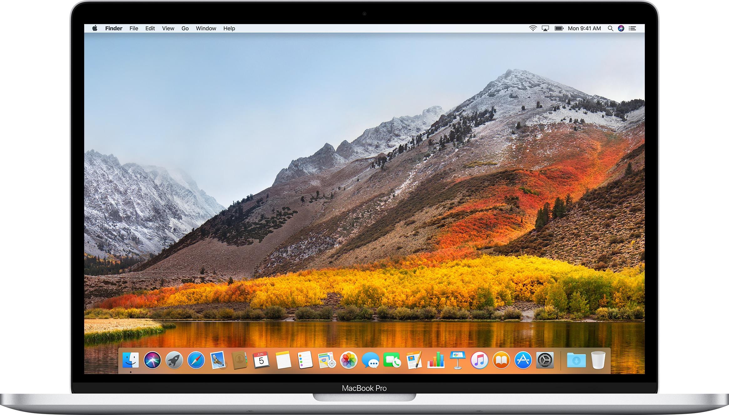 MacBook Pro rodando o macOS High Sierra