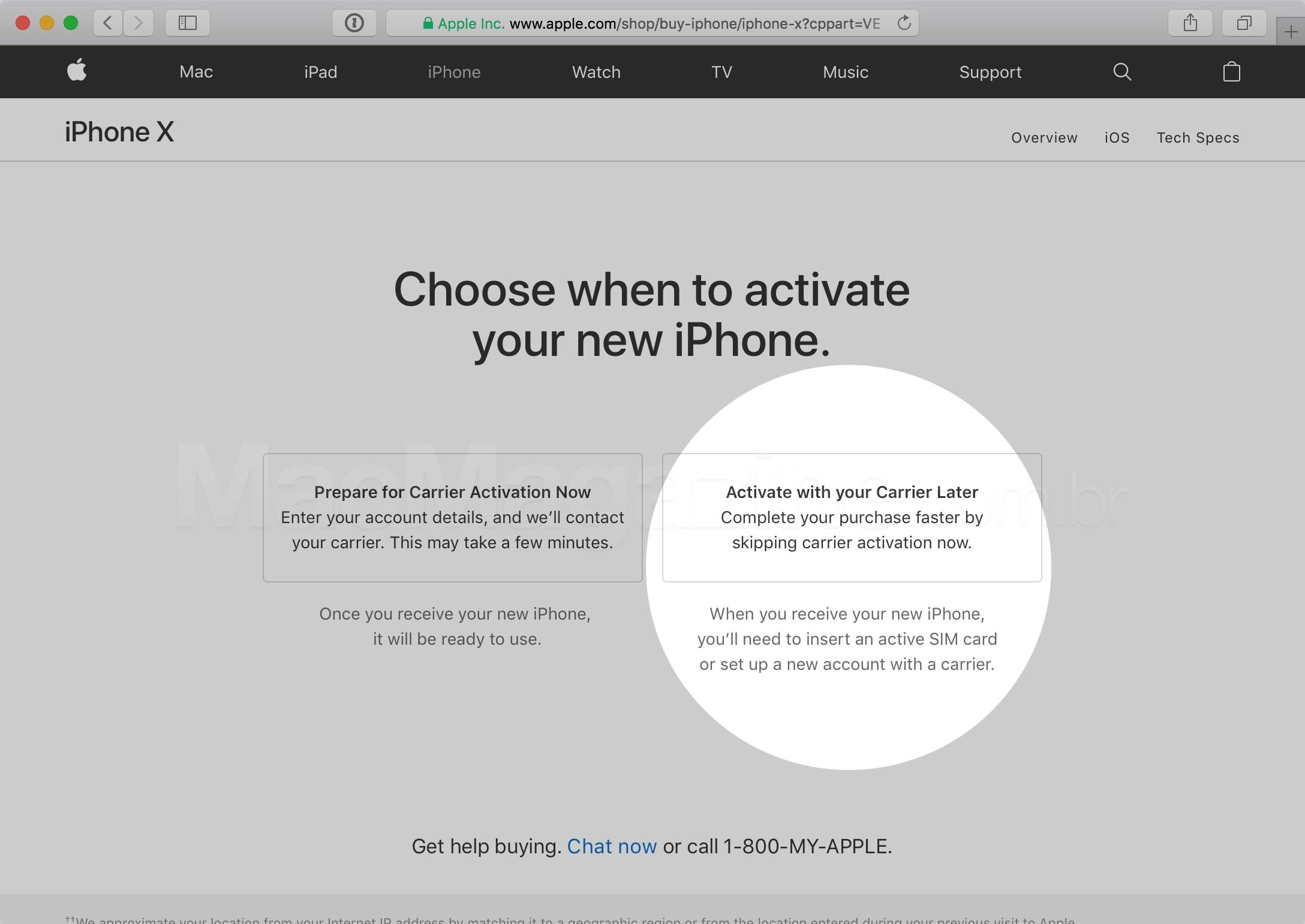 Ativando iPhones depois pelo site da Apple