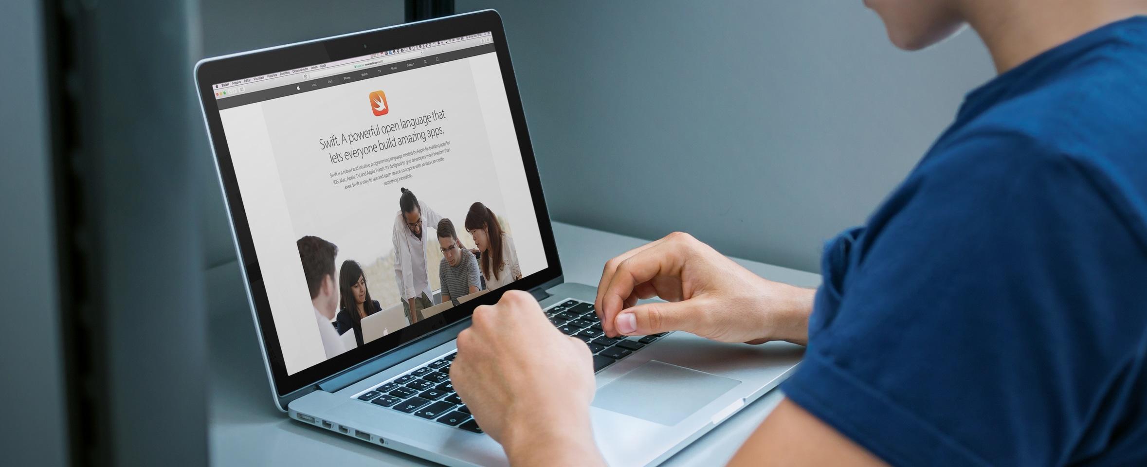 Site da Swift num MacBook