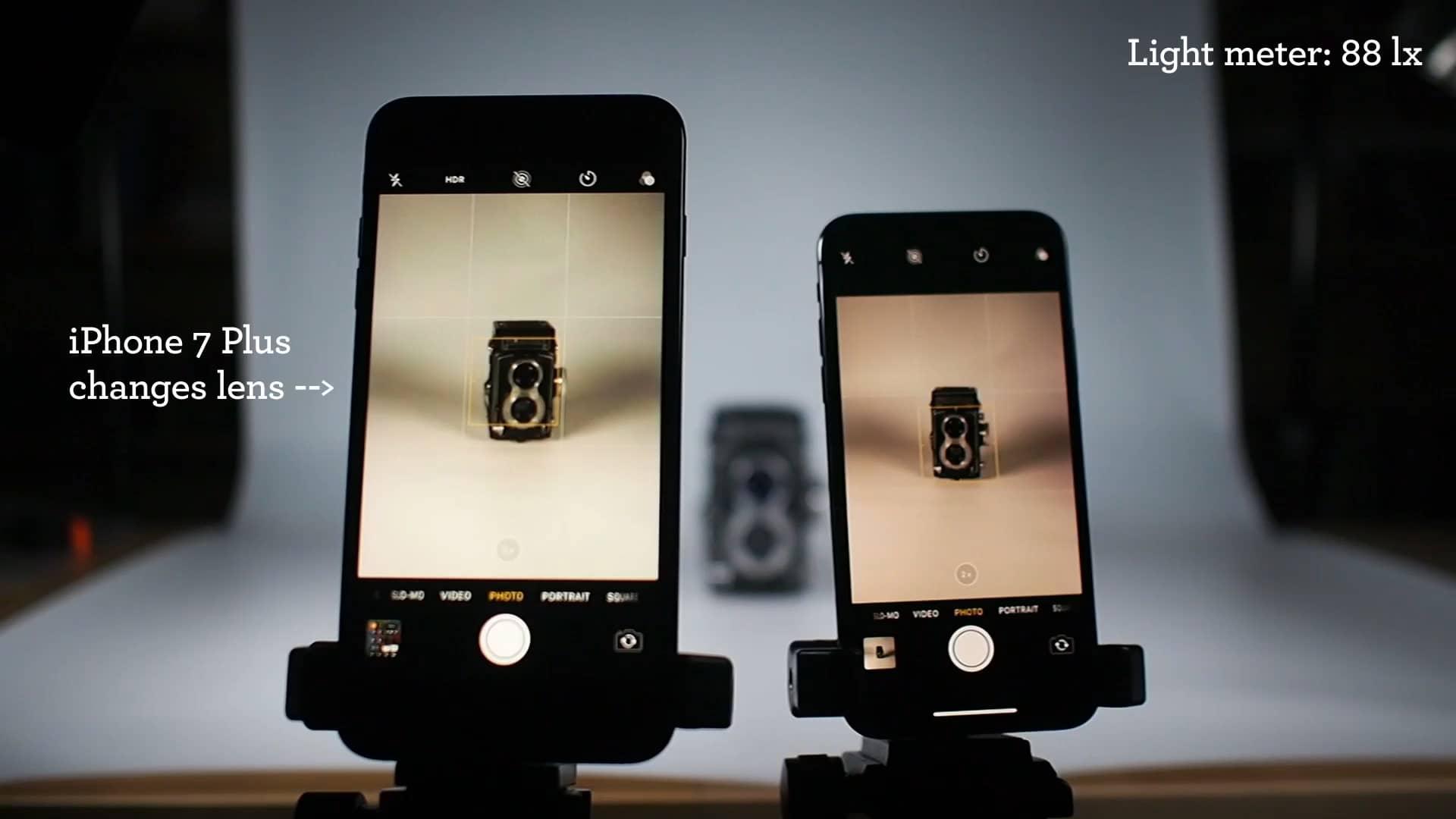 Vídeo comparativo das câmeras teleobjetivas dos iPhones 7 Plus e X