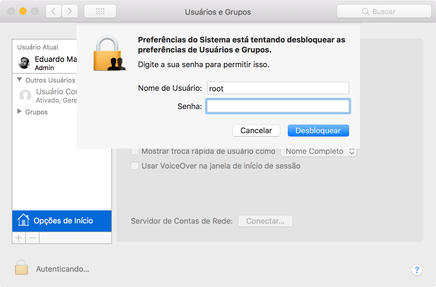 Falha grave no macOS