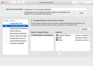Compartilhamento de Arquivos no macOS