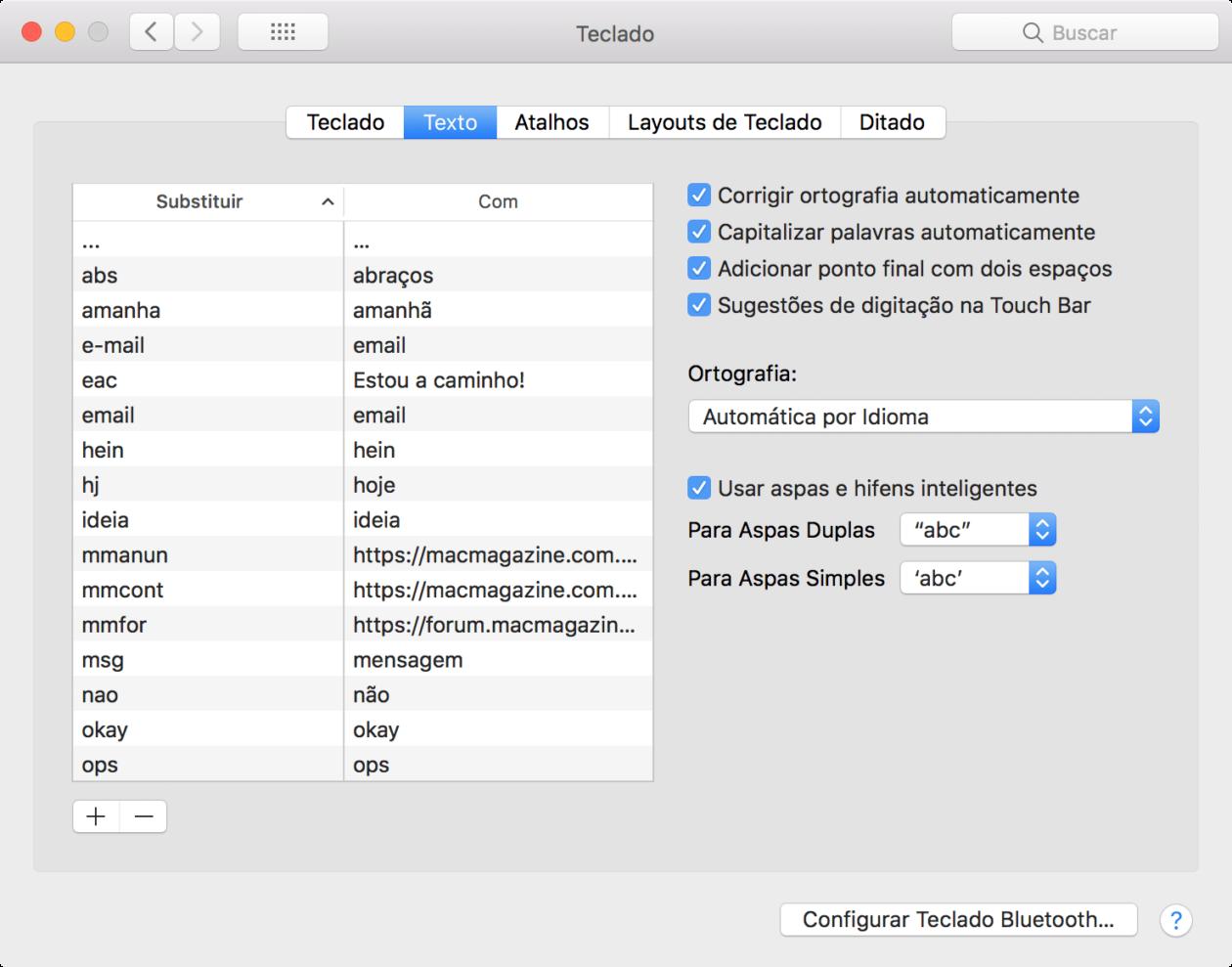 Atalhos de substituição de texto agora são devidamente sincronizados entre o iOS e o macOS, via iCloud