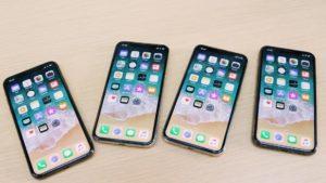 iPhones X lado a lado