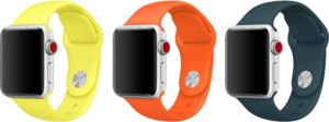 Novas cores de pulseiras pro Apple Watch