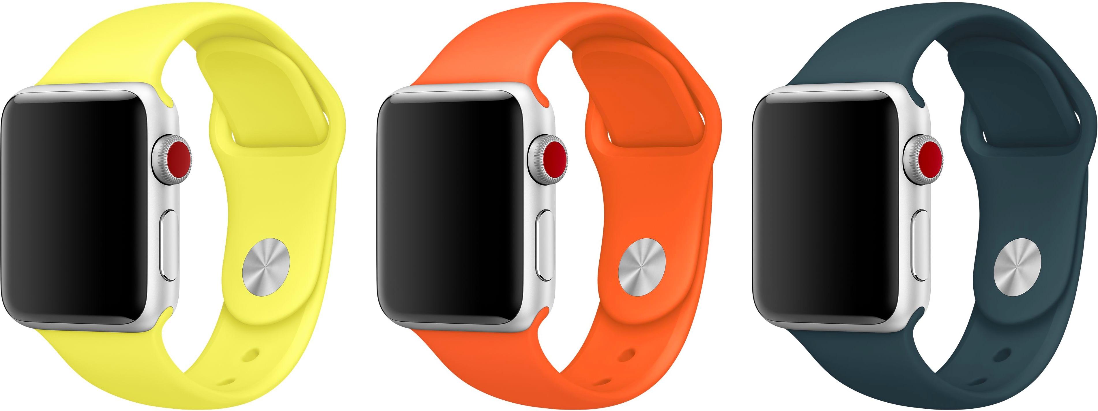 Novas cores de pulseiras pro Apple Watch