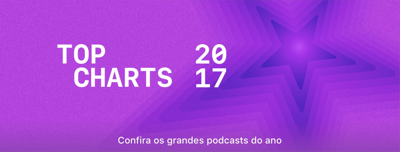 Banner de Top Charts de podcasts da iTunes Store