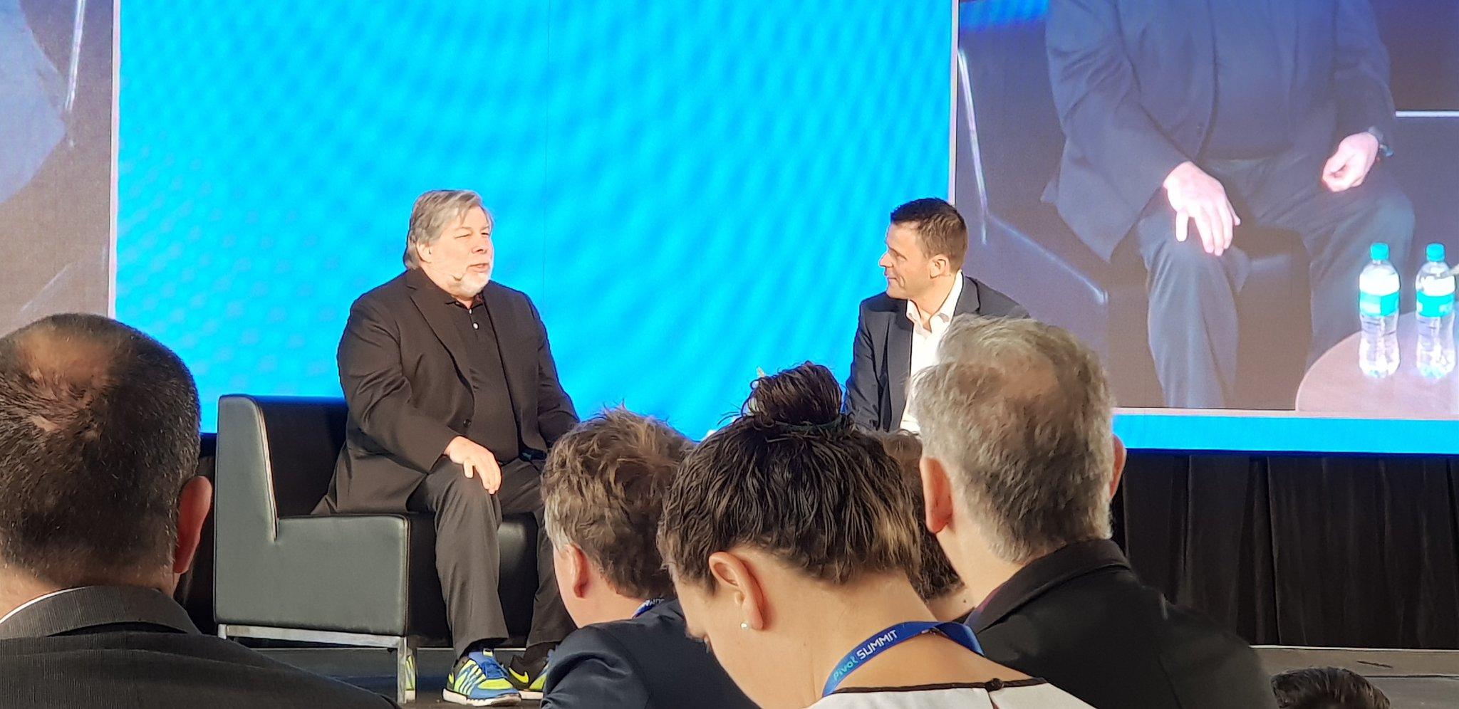 Steve Wozniak Pivot Summit   Crédito: @MishManners