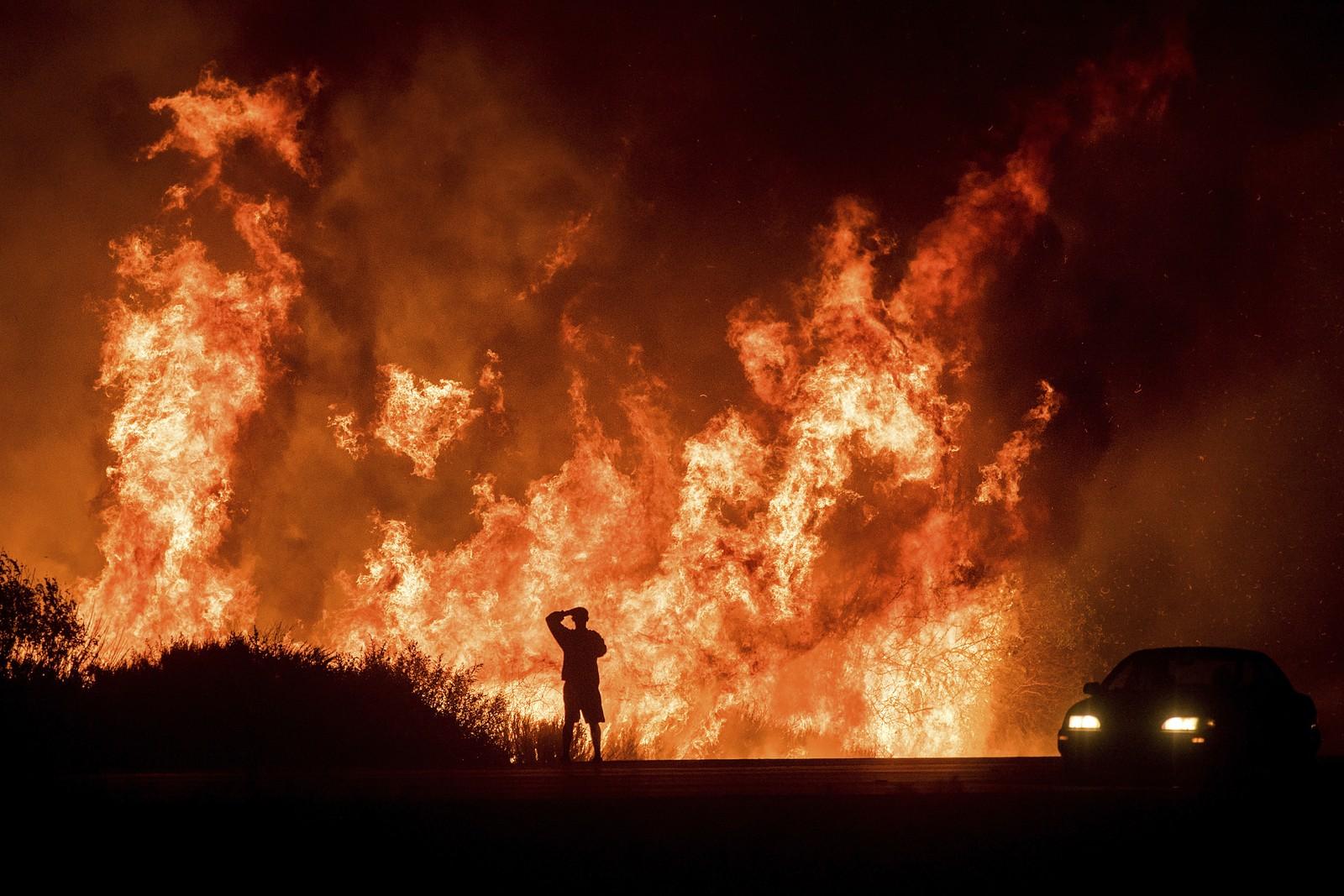 Incêndios na cidade de Ventura, no norte da Califórnia | Imagem: Noah Berger/AP Photo