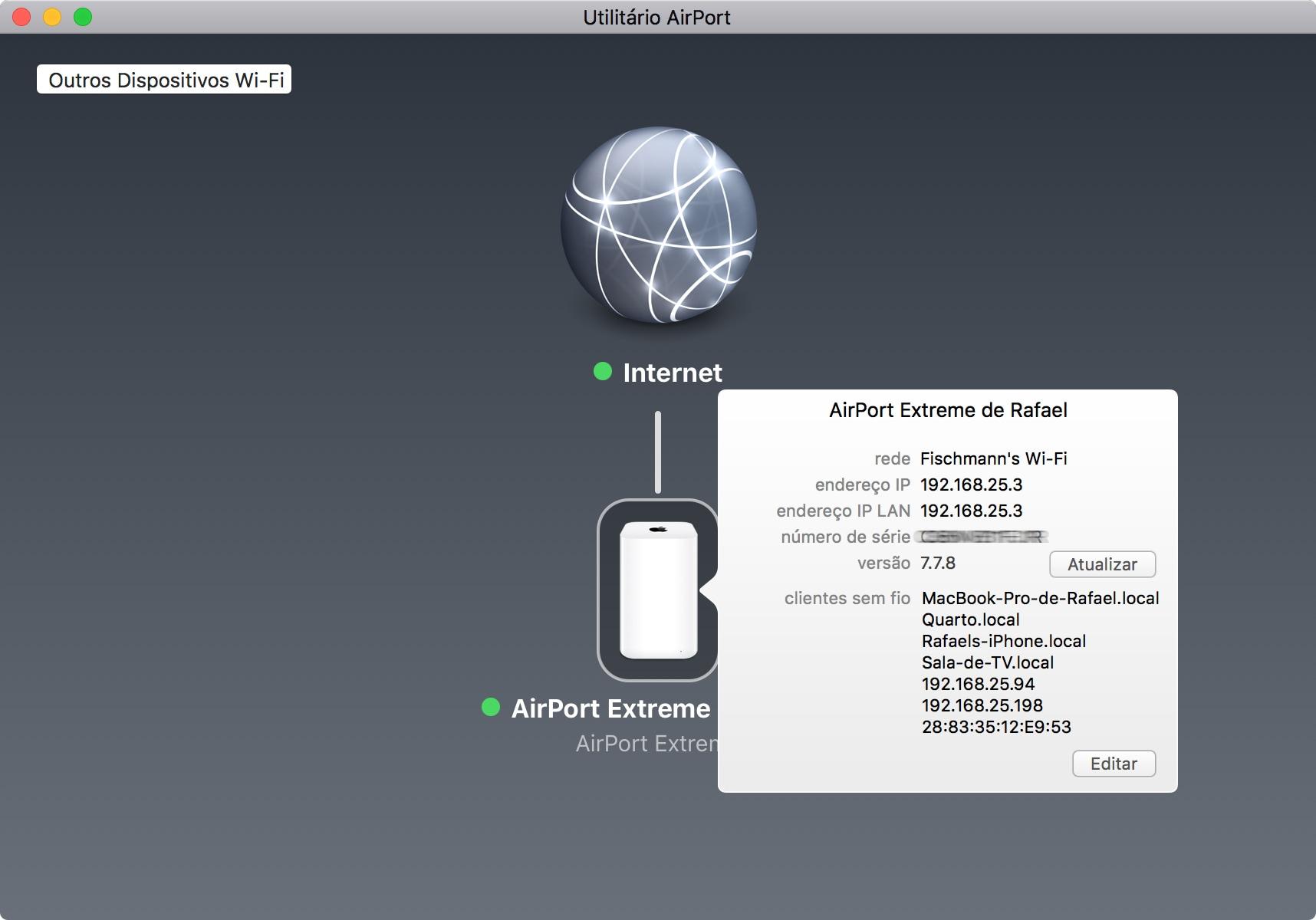 Atualização de firmware do AirPort
