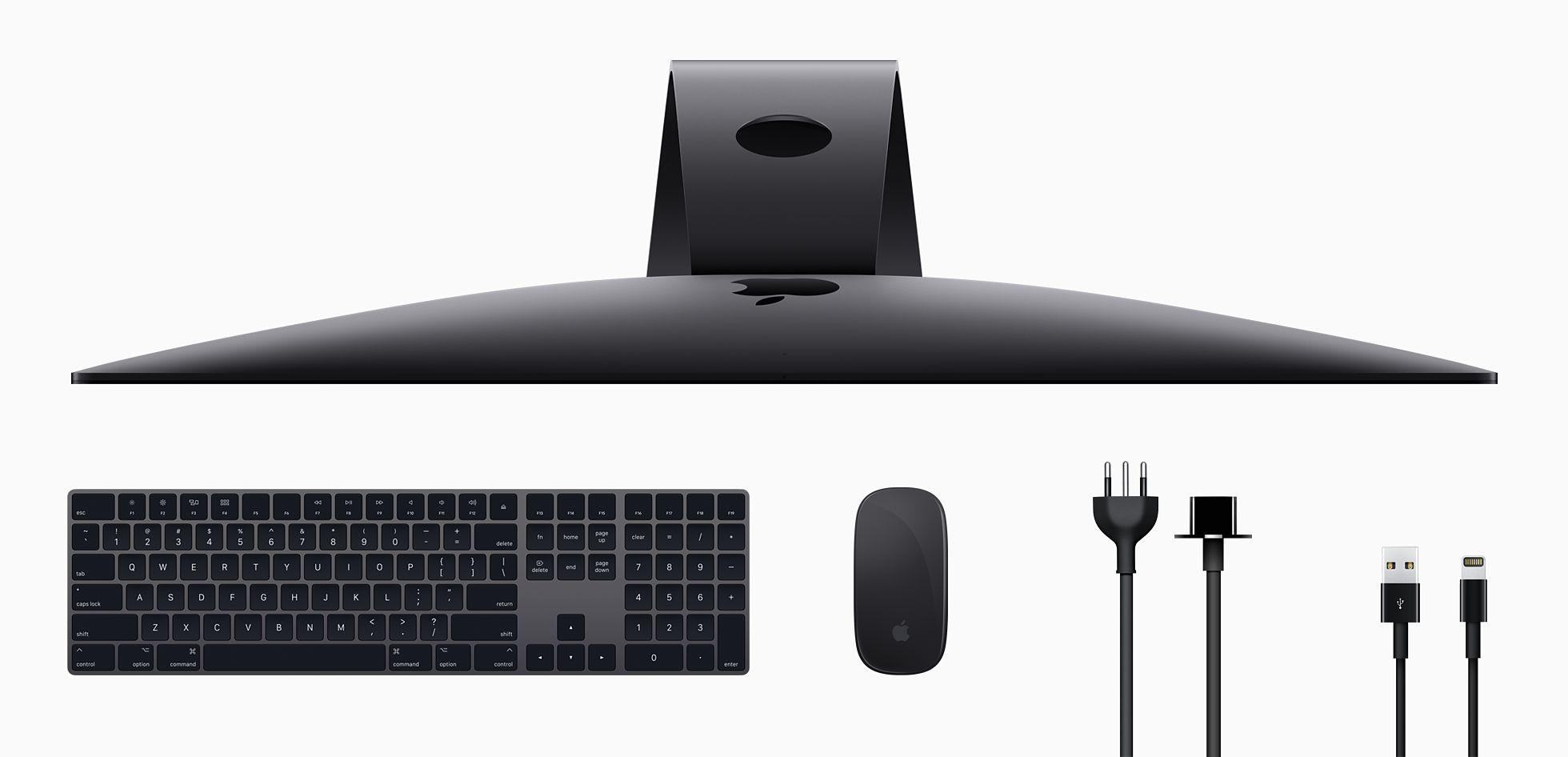 Acessórios que acompanham o iMac Pro