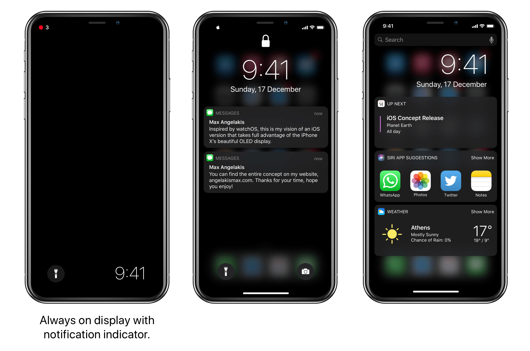 Modo Escuro no iOS 11, por Maximos Angelakis